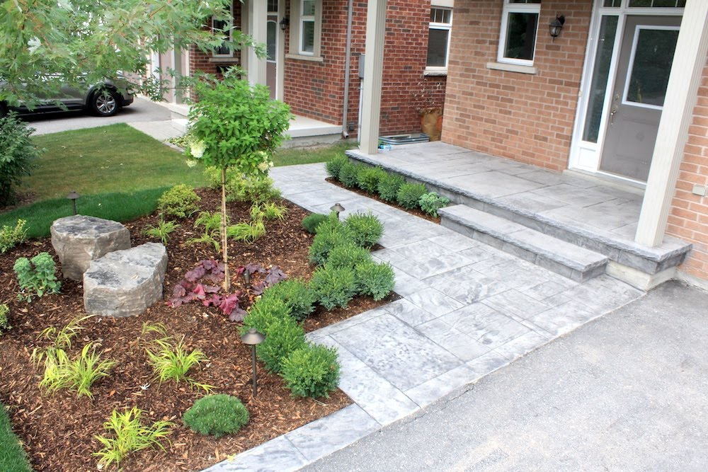 Stamped walkway stonegray